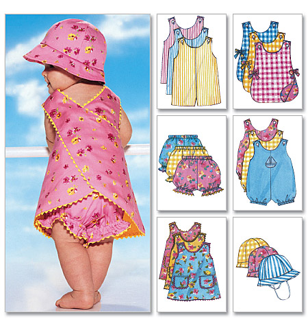 Butterick infants romper, jumper, panties, and hat 5625