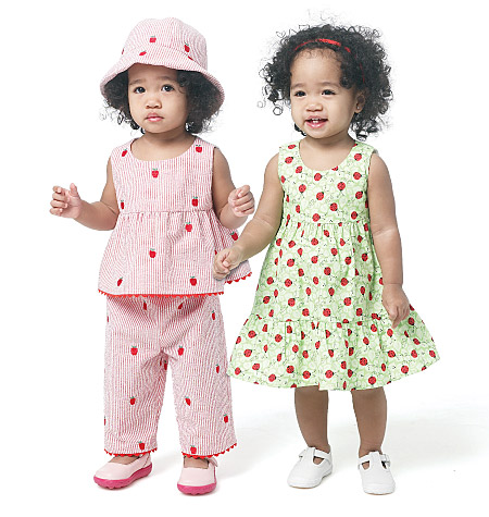 Butterick Infants top,dress, panties,pants and hat 5629