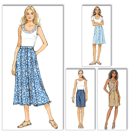 Butterick Misses skirt and shorts 5649