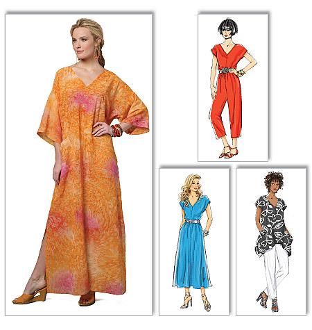 Butterick Misses top, dress, caftan, jumpsuit and pants 5652