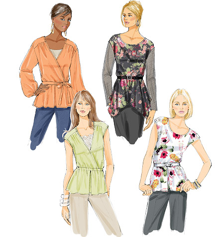 Butterick Misses' Top and Belt 5709