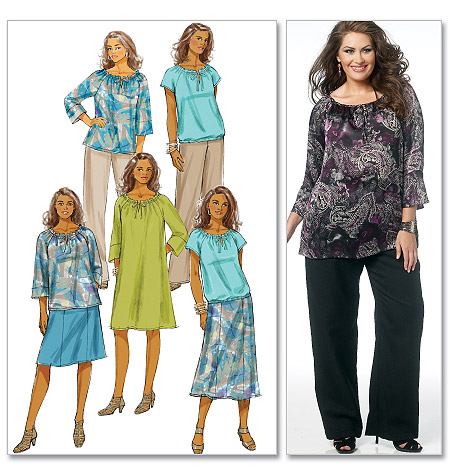 Butterick Women's Top, Dress, Skirt and Pants 5722