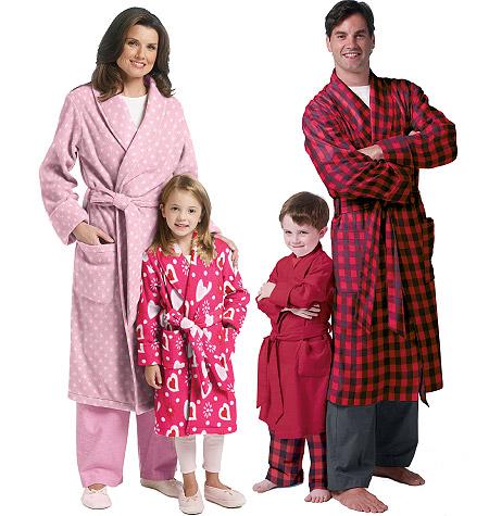 Butterick Misses'/Men's/Children's/Boys'/Girls' Robe and Belt 5724
