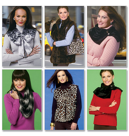 Butterick Vest, Neckwarmer, Scarf, Collar, and Bag 5727