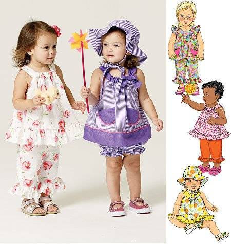 Butterick Infants' Top, Bloomers, Pants and Hat 5742