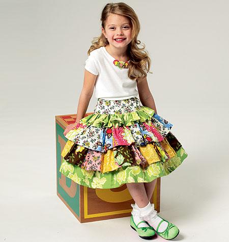 Butterick Children's Top, Skirt and Shorts 5777