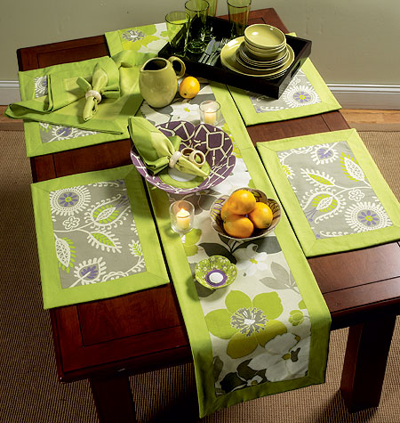 Butterick Napkins, Placemats, Table Runner, Table Cloth and Flower Bowl in 3 Sizes 5800