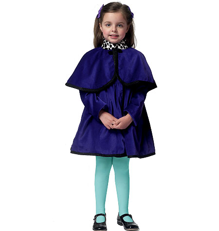 Butterick Children's/Girls' Coat and Detachable Hood and Capelet 5809