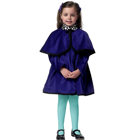 Butterick 5809 Children's/Girls' Coat and Detachable Hood and Capelet