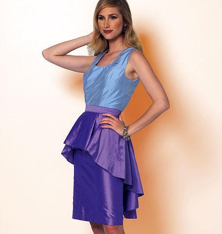Butterick Misses' Dress and Peplum 5811