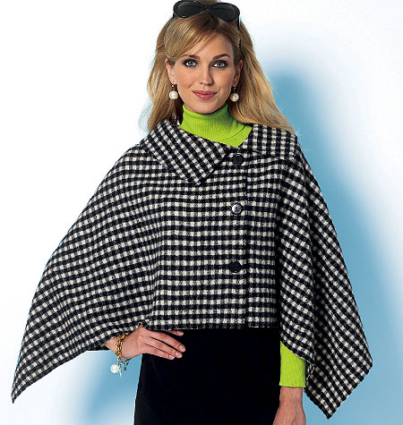 Butterick Misses' Wrap and Cape 5819
