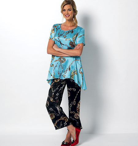 Butterick Misses' Top, Pants, Slippers and Bow 5829