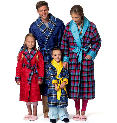 Butterick Misses, Mens and Children's Robe and Belt 5830