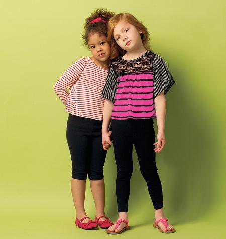 Butterick Children's/Girls' Top and Leggings 5913