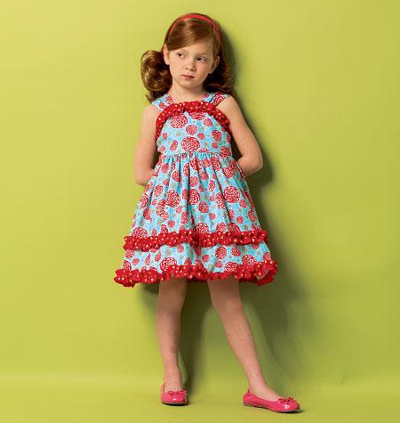 Butterick Children's/Girls' Dress and Belt 5914