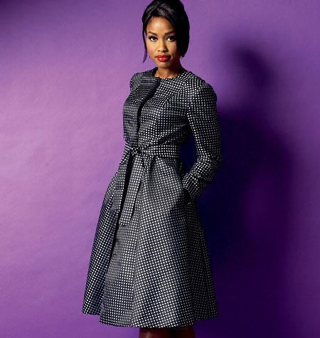 Butterick Misses' /Women's Jacket, Coat and Belt 5966