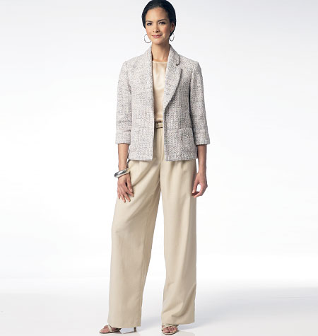 Butterick Misses' Unlined Jacket, Top and Pants 5977
