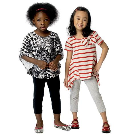 Butterick Children's/Girls' Top and Leggings 6005