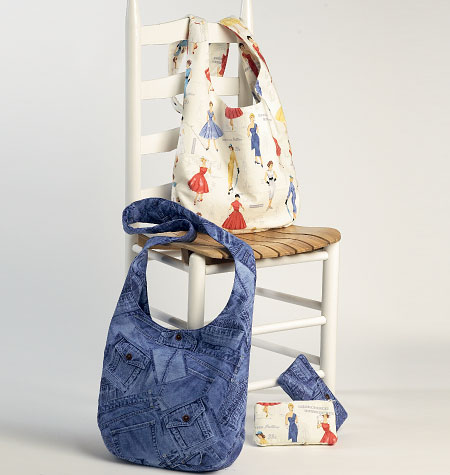 Butterick Cosmetic and Hobo Bags 6011