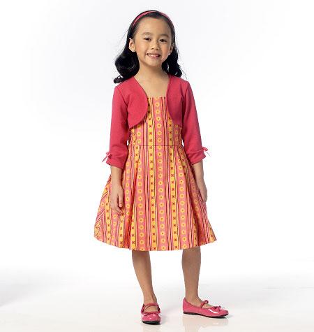 Butterick Children's/Girls' Shrug and Dress 6037