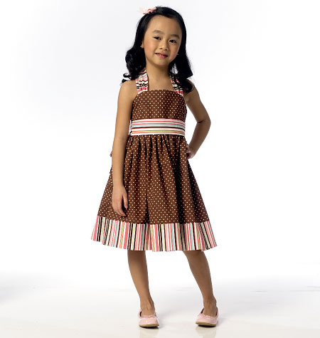 Butterick Children's/Girls' Dress and Belt 6038