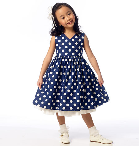 Butterick Children's/Girls' Shrug and Dress 6046