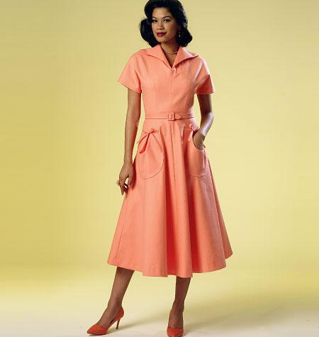 Butterick Misses' Dress and Belt 6055