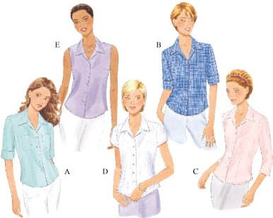 Butterick Misses' Shirt 6085
