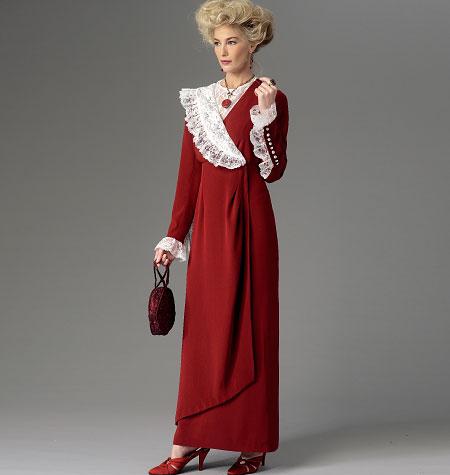 Butterick Misses' Dress, Belt and Bib 6093