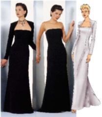 Butterick Strapless dress and shrug 6533