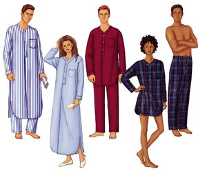 Butterick Unisex Nightshirt and Pants 6885