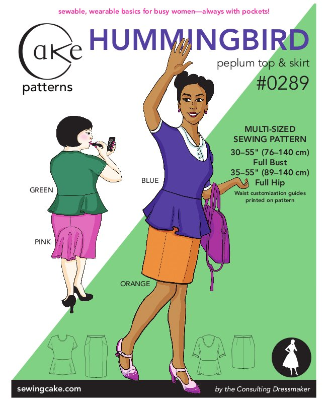 Cake patterns Hummingbird Separates 0289