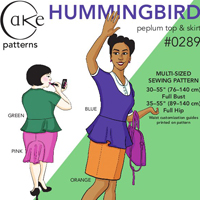 Cake Patterns Hummingbird Skirt Digital Pattern