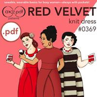 Cake Patterns Red Velvet Dress Digital Pattern