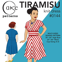 Cake Patterns Tiramisu Knit Dress Digital Pattern