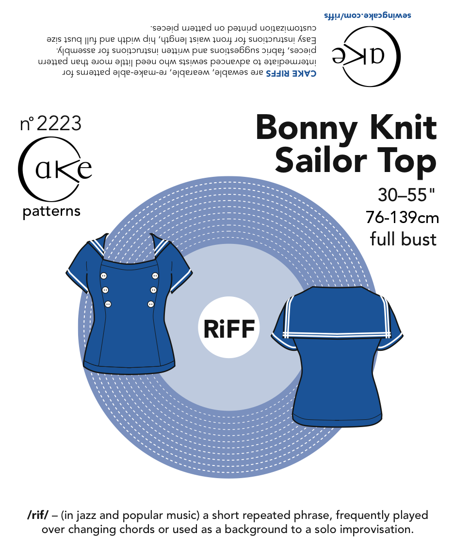 Cake patterns Bonny Knit Sailor Top Downloadable Pattern 2223