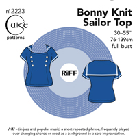 Cake Patterns Bonny Knit Sailor Top Digital Pattern