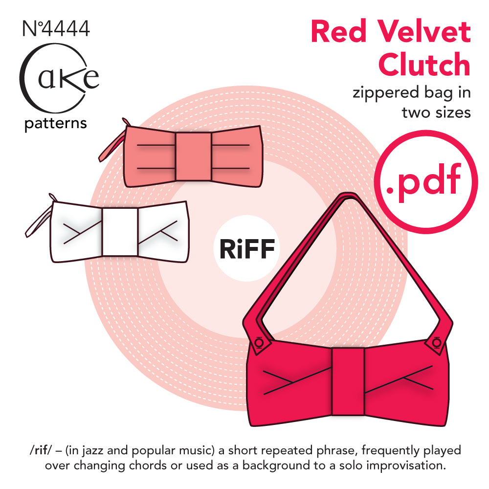 Cake patterns Red Velvet Clutch Downloadable Pattern 4444