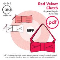 Cake Patterns Red Velvet Clutch Digital Pattern
