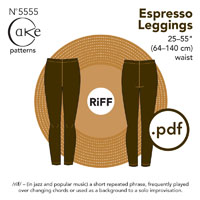 Cake Patterns Espresso Leggings Digital Pattern
