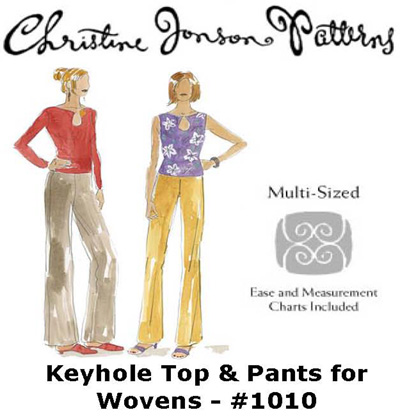 Christine Jonson Keyhole Top & Pants for Wovens 1010