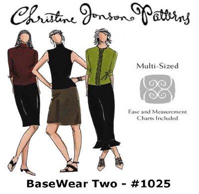 Christine Jonson BaseWear Two - Straight Skirt, Taper Skirt, & Top with Options 1025