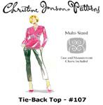 Christine Jonson Tie-Back Top