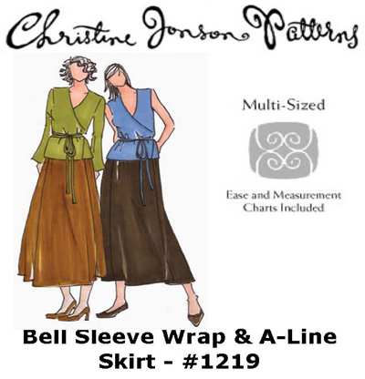 Christine Jonson Bell Sleeve Wrap & A-Line Skirt 1219