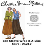 Christine Jonson Bell Sleeve Wrap & A-Line Skirt