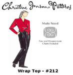 Christine Jonson Wrap Top
