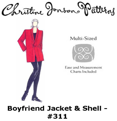 Christine Jonson Boyfriend Jacket and Shell 311