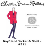 Christine Jonson Boyfriend Jacket and Shell