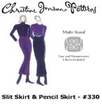Christine Jonson Slit Skirt & Pencil Skirt