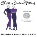 Christine Jonson Slit Skirt & Pencil Skirt